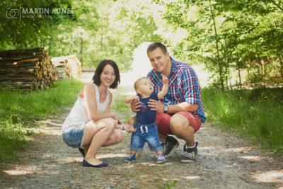 Rodina, Řípovi, přirozené fotky v lese